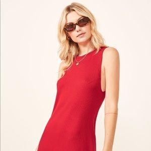 Reformation Tali Dress Red S